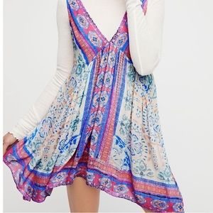 Free People In Dreams Trapeze Gypsy Slip Dress
